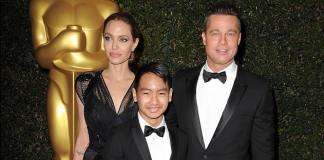 The incident is now 'under investigation by the FBI' but a source claims that the abuse allegations are ' exaggerated and fabricated ' (Maddox, Jolie and Pitt above in 2013)
