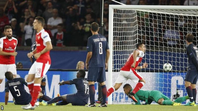 Alexis Sanchez salvaged a point for Arsenal from their limp Champions League opener at Paris St-Germain.