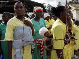 File picture of female prisoners in Zimbabwe