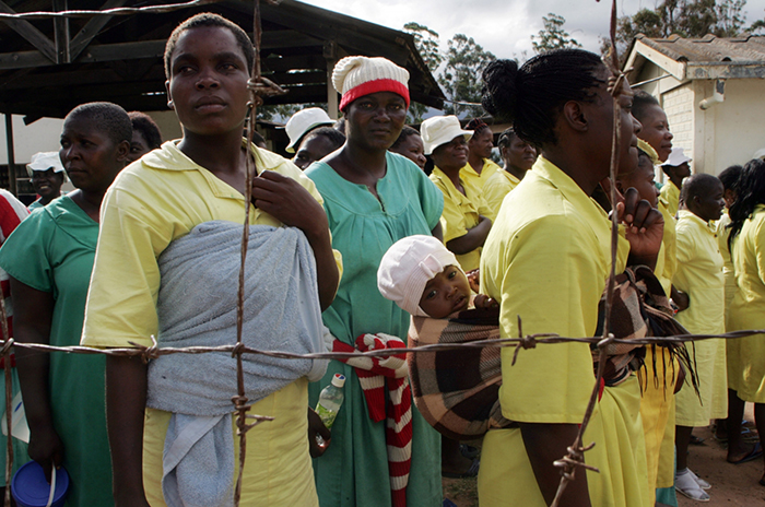 File picture of female prisoners in Zimbabwe