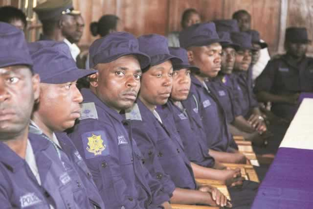 File picture of Zimbabwe Republic Police (ZRP) peacekeepers heading to Lesotho