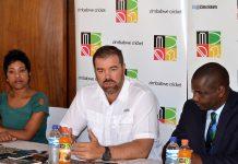 Heath Streak at a Press conference in Bulawayo yesterday