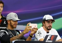 Lewis Hamilton posted images of himself and a fellow driver on Snapchat with bunny faces and gave minimal answers.