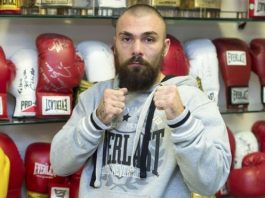 Mike Towell was knocked down in the first round of the fight