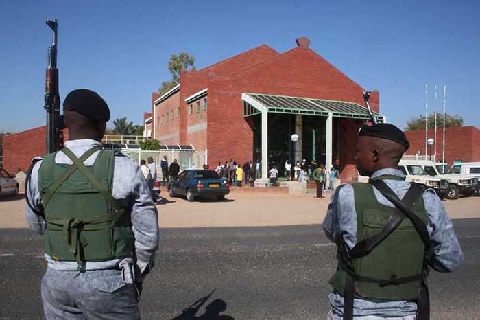 File picture of armed police in Botswana
