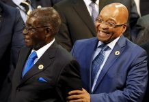 President Robert Mugabe seen here with President Jacob Zuma of South Africa