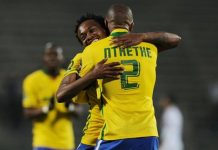 Mamelodi Sundowns celebrate in front of their fans