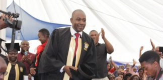 Nelson Chamisa on his graduation day from the Living Waters Theological Seminary