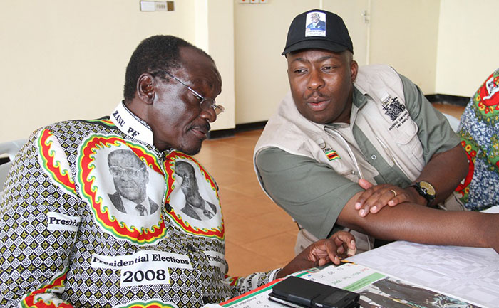 State Security Minister Kembo Mohadi and Local Government Minister Saviour Kasukuwere