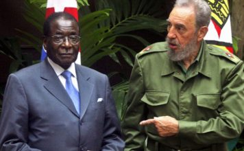 File picture of Zimbabwean President Robert Mugabe arriving in Havana for an official three-day visit with President Fidel Castro