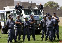 File picture of South African police (AP)