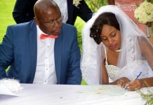 Cain Mathema and Diana Bathabetsoe Nare