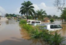 File picture of flooding in Kinshasa, December 2015