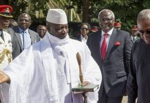 Visiting West African leaders were unable to persuade Mr Jammeh to step down