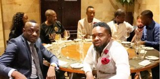 Genius Kadungure seen here with Prophets Edd Branson (Zimbabwe), Shepherd Bushiri (South Africa based) and Uebert Angel who is now based in the United Kingdom.