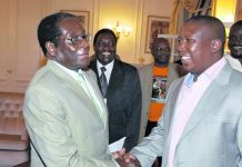 President Robert Mugabe seen here with South African opposition leader Julius Malema