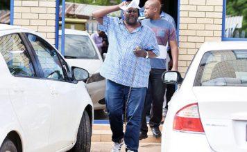 Bhekizwe Nkomazana in chains