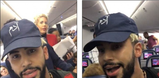 This is the shocking moment a YouTube prankster was allegedly 'kicked off' a Delta flight at Heathrow for speaking Arabic
