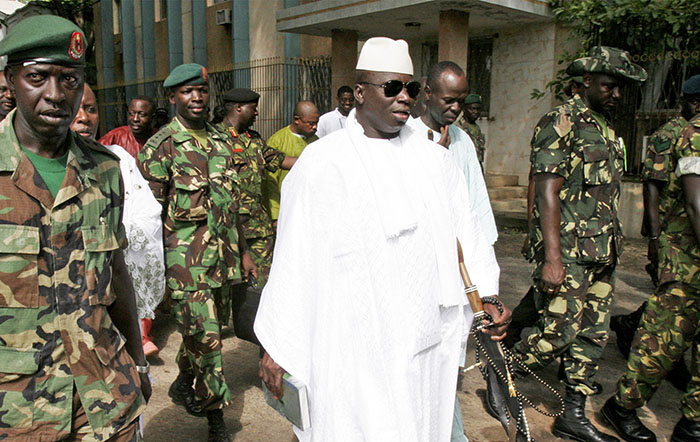 "Military intervention in The Gambia is ""possible"" if President Yahya Jammeh does not step down after having lost elections, the head of the West African regional bloc Ecowas has said."