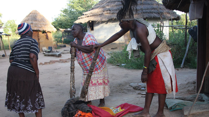 File picture of a Tsikamutanda going on a exorcising spree in Gokwe (Picture by NewsDay)