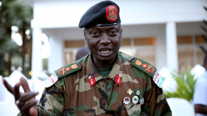 Army chief General Ousman Badjie