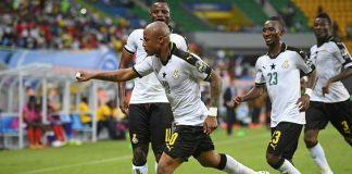 Ayew's first-half spot kick was enough to seal the win (Photo: Getty)