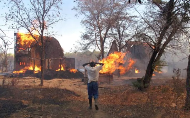 The homes of Mount Carmel farmworkers were also destroyed by fire in August 2009 CREDIT: COURTESY OF BEN FREETH