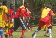 LEADING FROM THE FRONT . . . Yadah Stars owner Prophet Walter Magaya (centre), caught here training with his players, believes his club will shake the domestic Premiership this year