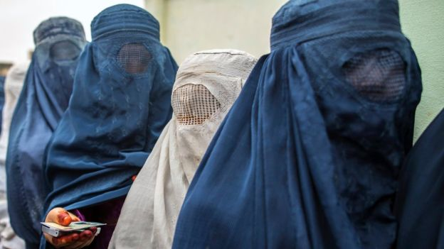 The burka is not popular in Morocco. Pictured: Women in Afghanistan wearing burkas