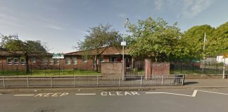The shooting occurred as children were dropped off at St George's RC Primary in Glasgow (Picture: Google Maps)