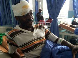 Mr Martin Khabo on a hospital bed at Mpilo Hospital in Bulawayo