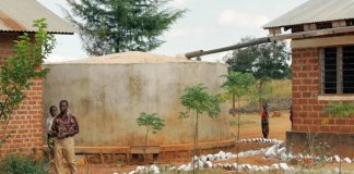 File picture of rain water harvesting