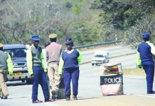 File picture of police roadblock in Zimbabwe