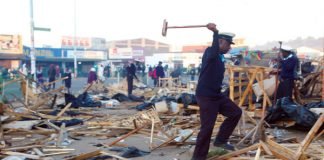 Municipal police early last year destroyed vendors' stalls in Harare's city centre