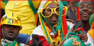 File picture of Zimbabwe Warriors supporters rallying behind their team
