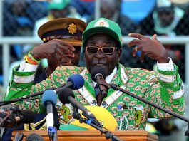 File Picture: Zimbabwe's President Robert Mugabe addresses at a rally in Harare on July 28, 2013