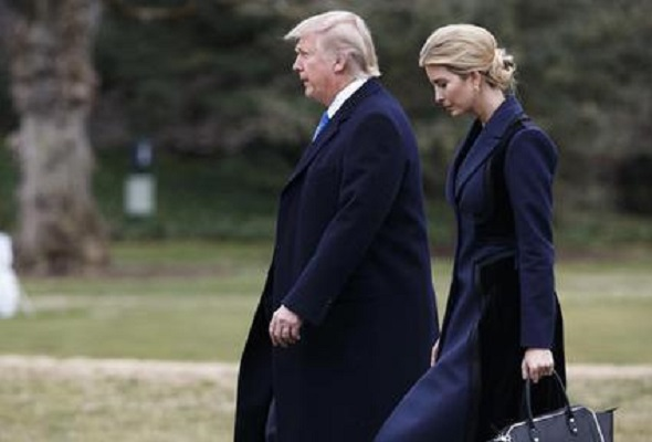 President Donald Trump and his daughter Ivanka walk to board Marine ...