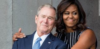 George W. Bush on his friendship with Michelle Obama: 'We just took to each other'