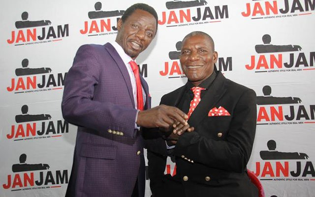 """Alick Macheso and Nicholas """"Madzibaba"""" Zakaria donning swanky apparel at a recent photo shoot"""
