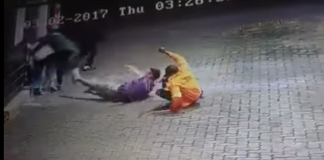 Attack on Zimbabwean mother and son captured on CCTV