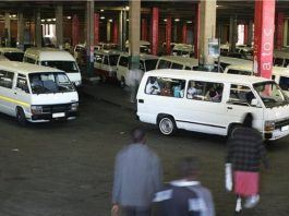 Minibus taxis are widely used form of public transport in South Africa