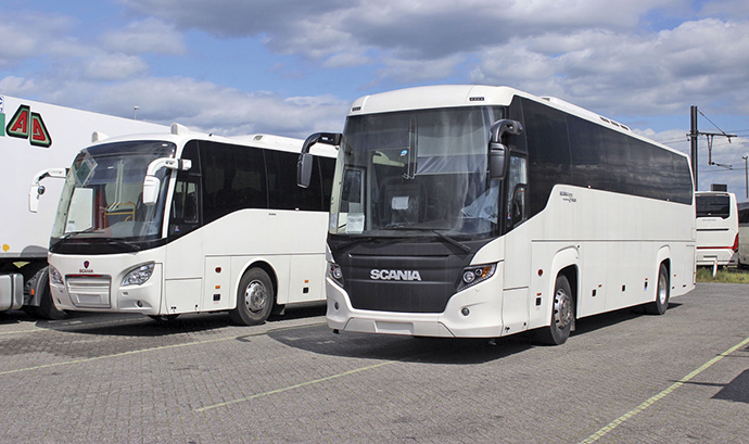 File picture of Scania buses