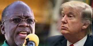 Tanzanian public broadcaster TBC has suspended nine staff after it aired a hoax story saying that US President Donald Trump had praised President John Magufuli's performance.
