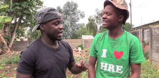 Bhutisi and Kedah in one of their popular skits