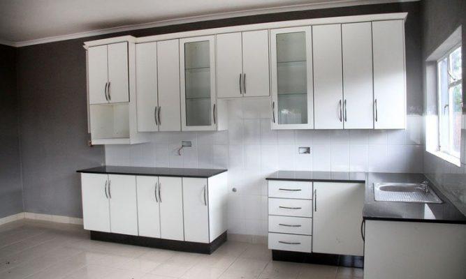 The trendy open plan kitchen