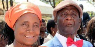 Jessesi and her husband Charles Mungoshi
