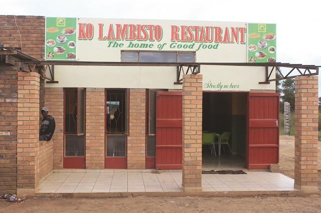 The finely built and painted restaurant boasts of the capacity to cater for about 50 people at a time.