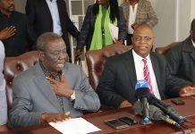 Morgan Tsvangirai and Welshman Ncube