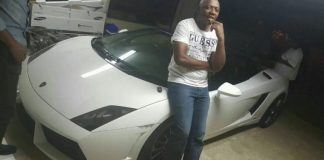 The Lamborghini pic circulating on Twitter, allegedly the car seized from one of the suspects in the OR Tambo International Airport robbery. It's not clear if the man in the photo is a suspect or one of the police who arrested them or nothing to do with this at all.