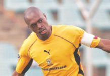 FLYING DOCTOR . . . Tauya Murewa, who starred at Dynamos and was crowned Soccer Star of the Year in 1995, is one of the XI players chosen by Charles Mabika in his All-Star XI which graced the domestic Premiership in the last 25 years